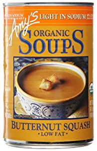 Amy's Soup, Vegan, Organic Butternut Squash, Made with Olive Oil and Garlic, Light in Sodium, Low Fat, 14.1 oz