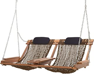 product image for Nags Head Hammocks Cumaru Deluxe Double Porch Swing, Mocha DuraCord
