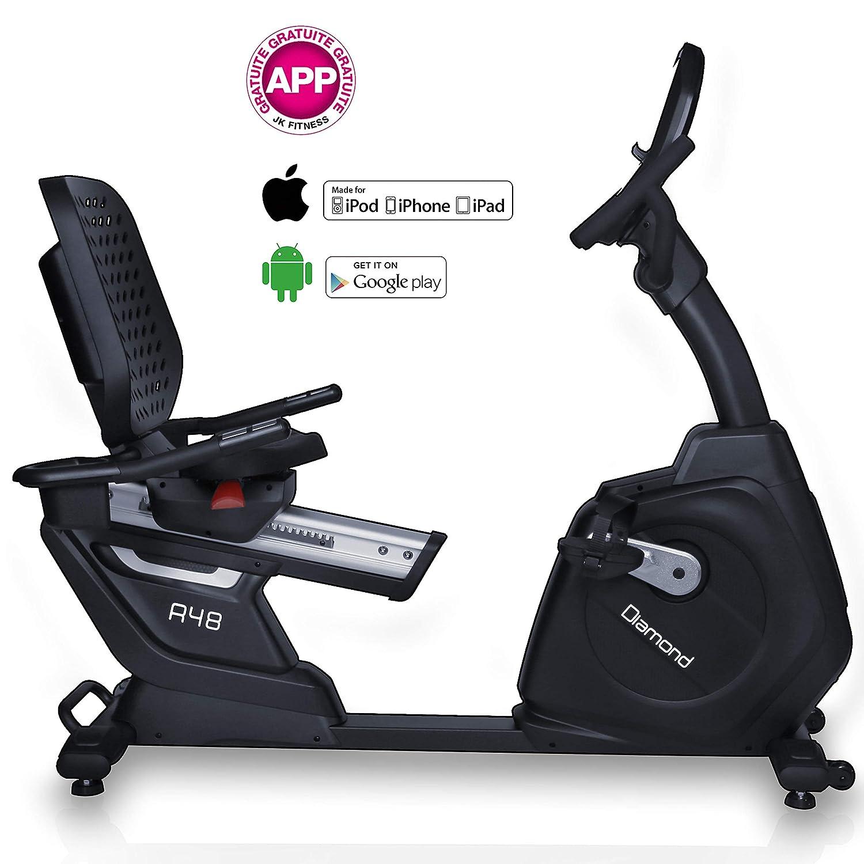 JK Diamond Bicicleta estática Recumbent R48: Amazon.es: Deportes y ...