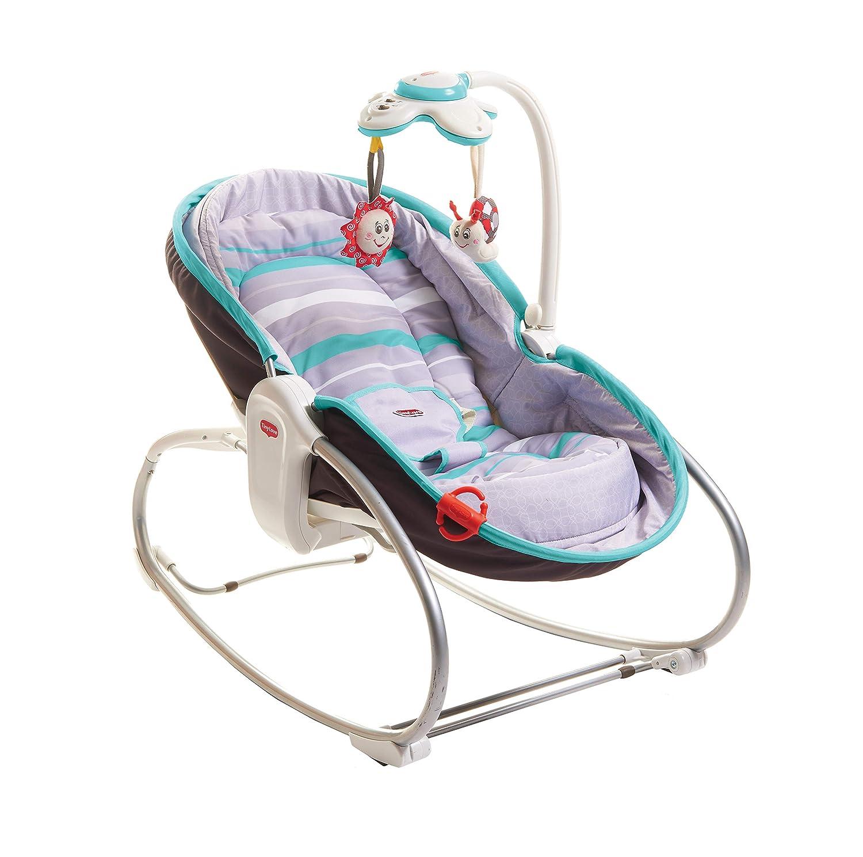 Tiny Love 3-in-1 Rocker-Napper gemütliche Babywippe, Baby-Schaukel und Babybett in einem, inklusive Vibration und Mobile, braun