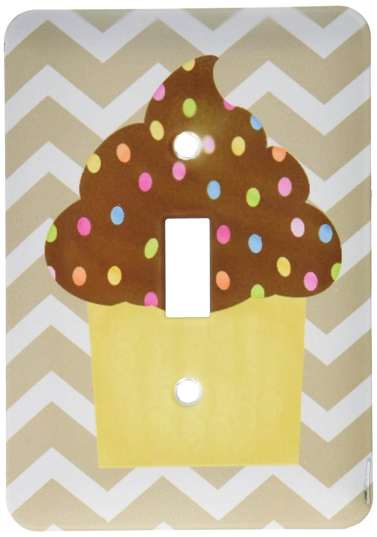3dRose lsp/_110391/_1Chevron stripe chocolate cupcake Single Toggle Switch Multicolor