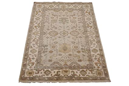 bf21d49d31 Oushak 6X9 Turkish Vegetable-Dye Antiqued Hand-Knotted Wool Area Rug Carpet  New
