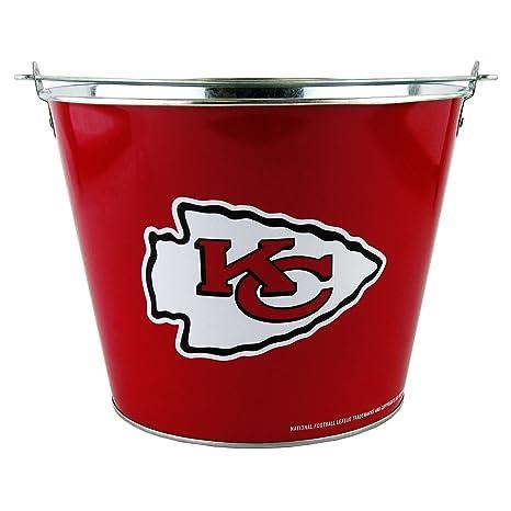 6e2f03a3 NFL Kansas City Chiefs Hype Full Wrap Metal Bucket, 5-Quart