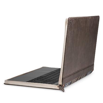designer fashion 610d5 9a791 Twelve South BookBook V2 for MacBook | Vintage leather book case/sleeve  with interior pocket for 12