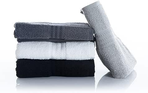 Hobby Rainbow Vivid Colored toalla establece 4 in1 Pack – fabricado en Turquía con 100% algodón turco de alta calidad: Amazon.es: Hogar