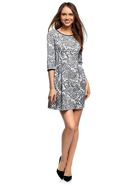 52a5bd36 oodji Ultra Mujer Vestido de Punto con Pliegues en la Falda: Amazon.es:  Ropa y accesorios