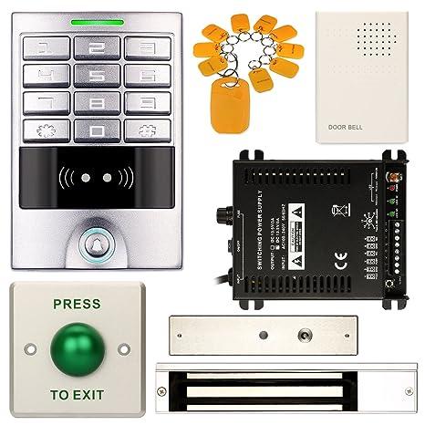 Resistente al agua teclado numérico Office DIY Control de acceso RFID Código de entrada Sistema de