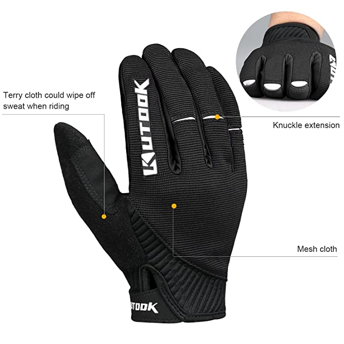 Kutook Gel Padded Full Finger Cycling image 3