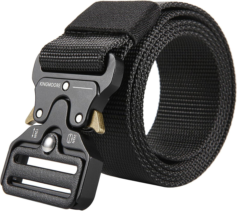 Men's Tactical Belt Heavy Duty Webbing Belt Adjustable Military Style Nylon Belts
