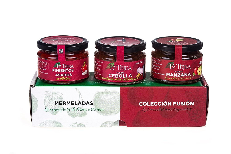La Tejea, Conservas caramelizadas (Pimiento, Manzana,Fritada) - 3 piezas: Amazon.es: Alimentación y bebidas