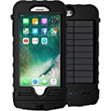 SnowLizard SLXtreme iPhone 8 Plus Case. Solar Powered, Rugged and Waterproof with a built in Battery - Night Black.  Also works with iPhone 7 Plus.
