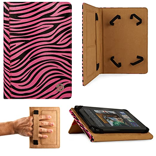 VanGoddy Mary Portfolio Kickstand Book Case for Micromax Funbook Mini P410i Tablet  Pink Zebra  Bags,Cases   Sleeves