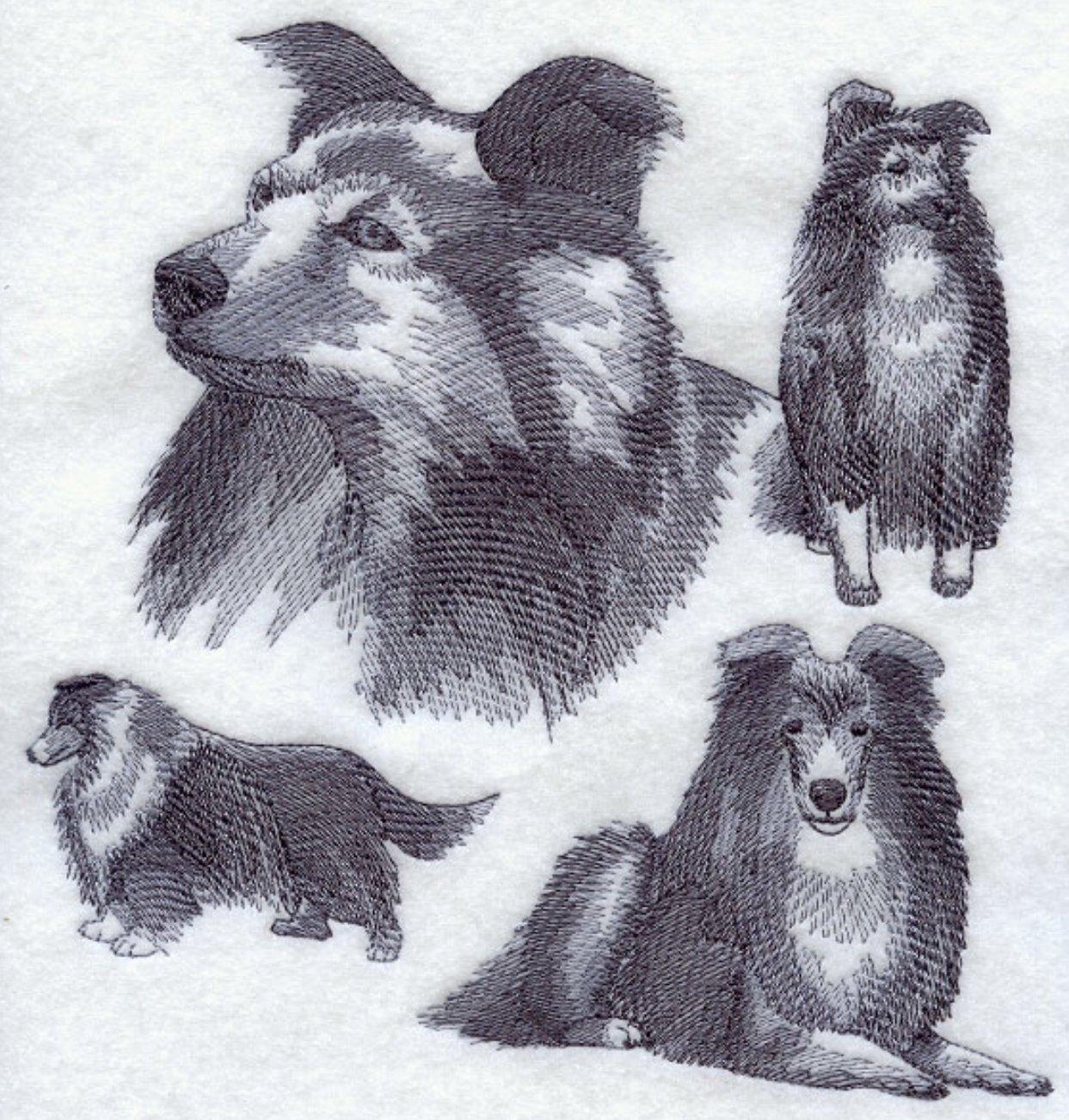 Shetland Sheepdog / Sheltie Custom Embroidered Sweatshirt Shirt