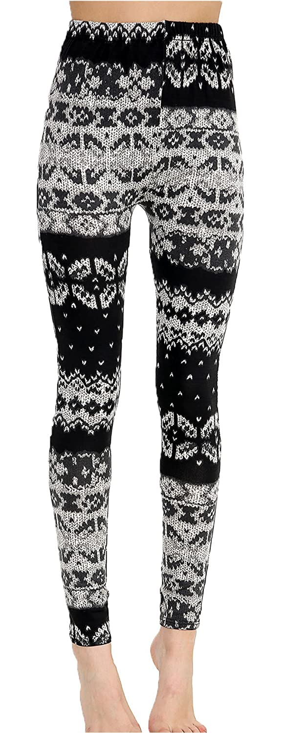 Women Bat Tower Skull Aztec Print Ladies Halloween Stretch Elasticated Leggings