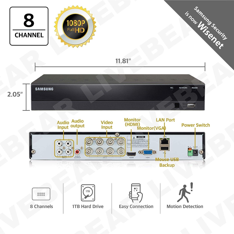 Seller Refurbished Samsung SDR-B74303N1T 8 Channel 1TB HDD 1080p Full HD