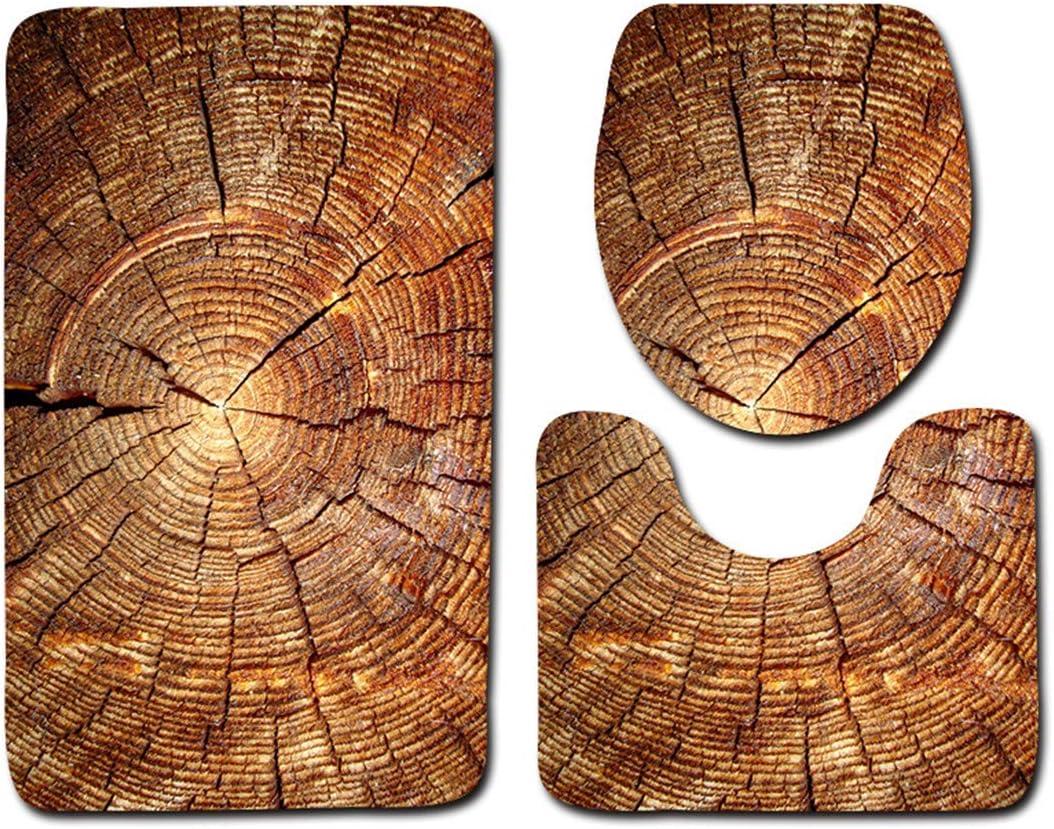 JMAHM Juego de 3 Piezas Alfombras de Ba/ño Alfombrilla de Ba/ño Antideslizante Estera de Pedestal Cubierta de Asiento de Inodoro Estera Blanco