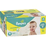 Pampers Swaddlers Disposable Baby Diapers Size 4, 150 Count, ONE MONTH SUPPLY