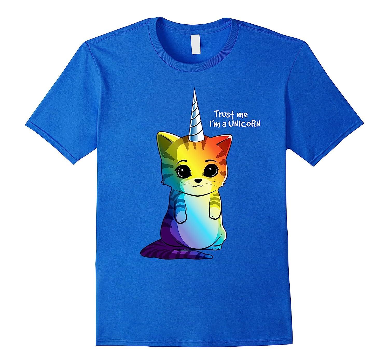 Caticorn Rainbow – Funny Cat Unicorn Kittycorn T-shirt-Awarplus