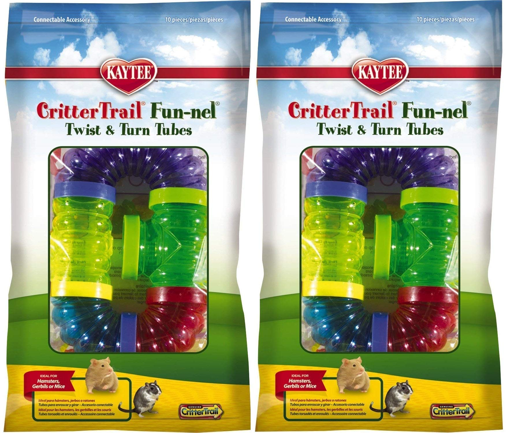 Kaytee CritterTrail Fun Twist and Turn Value Pack, Colors Vary 2 Pack