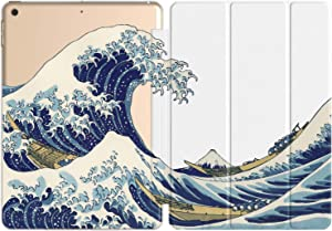 Vonna Case Replacement for Apple iPad Air 4th Gen 2020 12.9 Pro 10.2 8th 11 10.5 9.7 Mini 5/4/3/2/1 Print Closure Stand Great Wave Off Kanagawa Art Slim Design Watercolor Blue Famous Magnetic vm1237