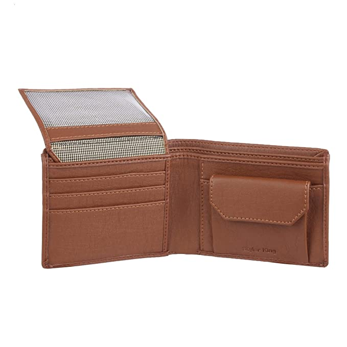 STYLER KING Boys Tan Artificial Leather Wallet  6 Card Slots