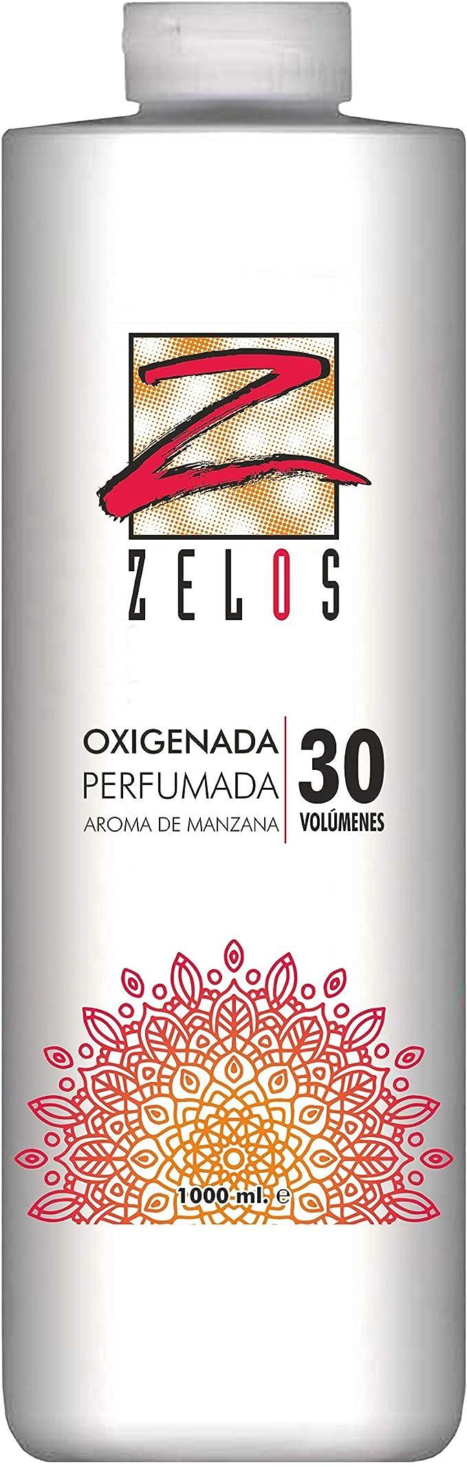 Oxigenada 30 volúmenes - 1000 ml - Aroma de Manzana - Emulsión Oxidante en Crema para Tinte y Decoloración - Da una Textura Sedosa Al Cabello - Uso ...
