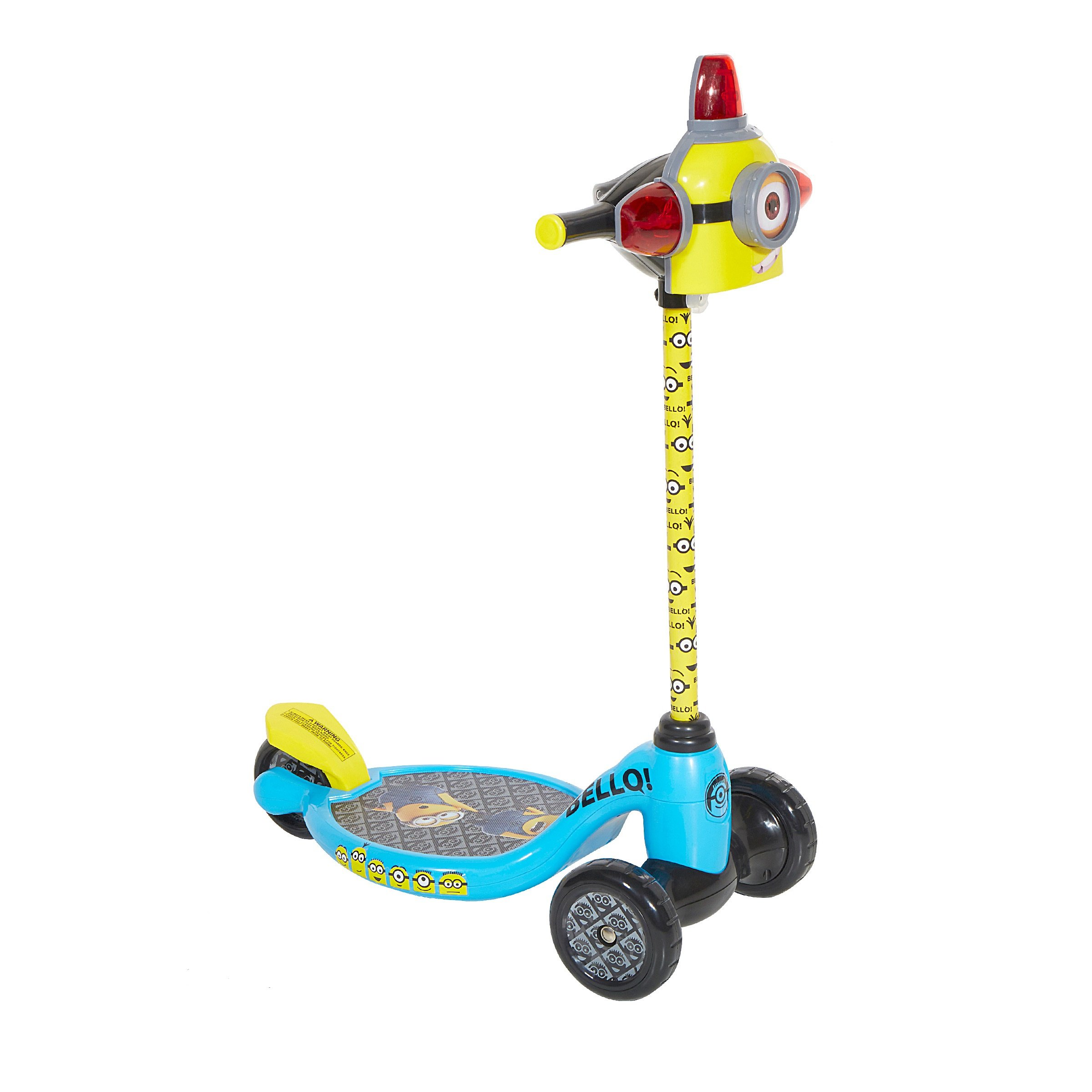 Minions 8004-01CY 3 Wheel Scooter, 5'', Yellow/Blue