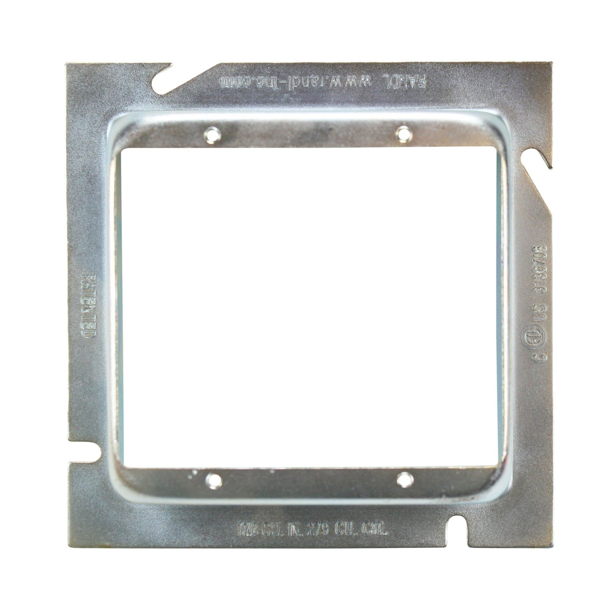 Randl L-52G114 5'' Square Telecommunication 2-Gang Extension Ring (10 Pack)