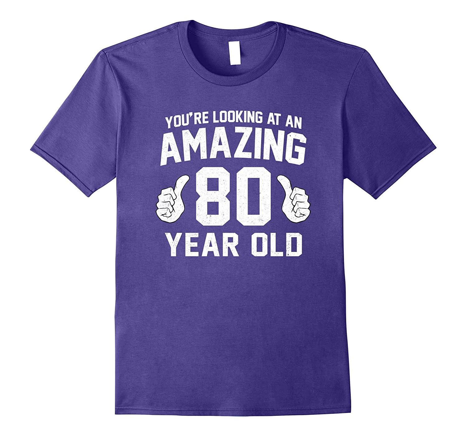 Awesome 80th Birthday Saying T-Shirt Funny Years Gag Gift-FL