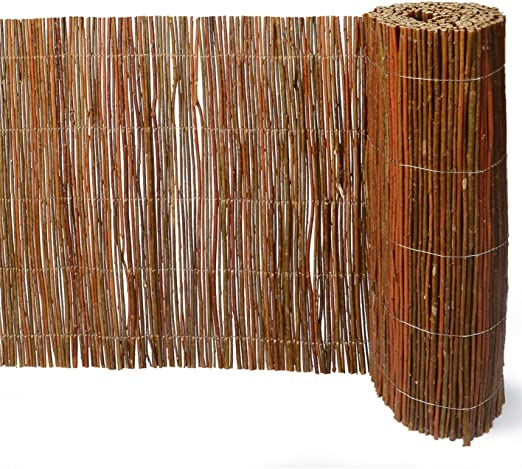 Sauce Matte 300 x 50 cm – Valla de cañas de mimbre, valla, V.I.P Jardín Valla: Amazon.es: Jardín