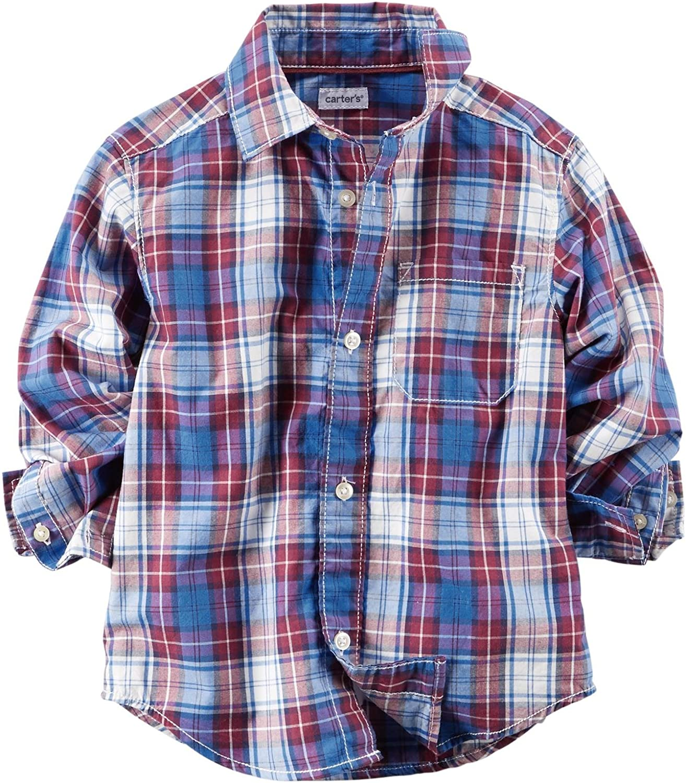 Toddler Carters Little Boys Plaid Button Down Shirt