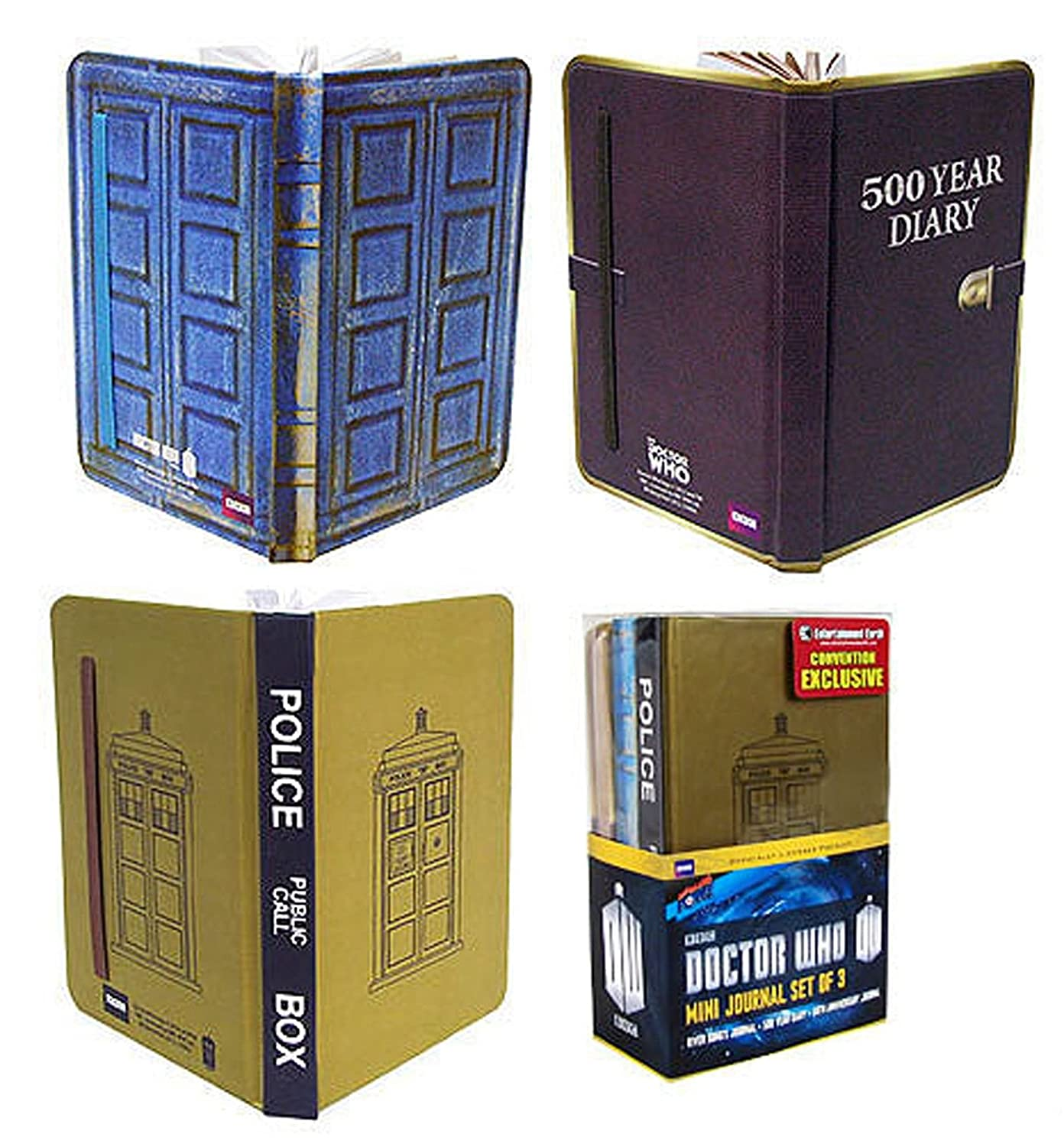 Doctor Who Mini-Journal Set of 3 - Convention Exclusive big bang pow
