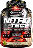 MuscleTech NitroTech Whey Protein Powder, Whey Isolate and Peptides, Vanilla, 4.00 pounds