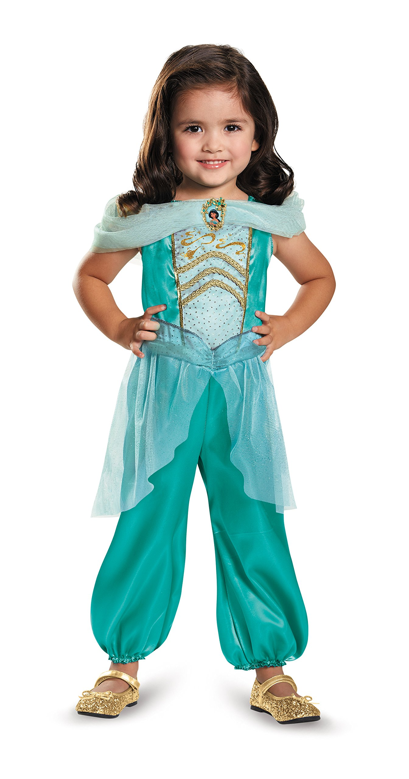 Disguise Jasmine Toddler Classic Costume, Large (4-6x)