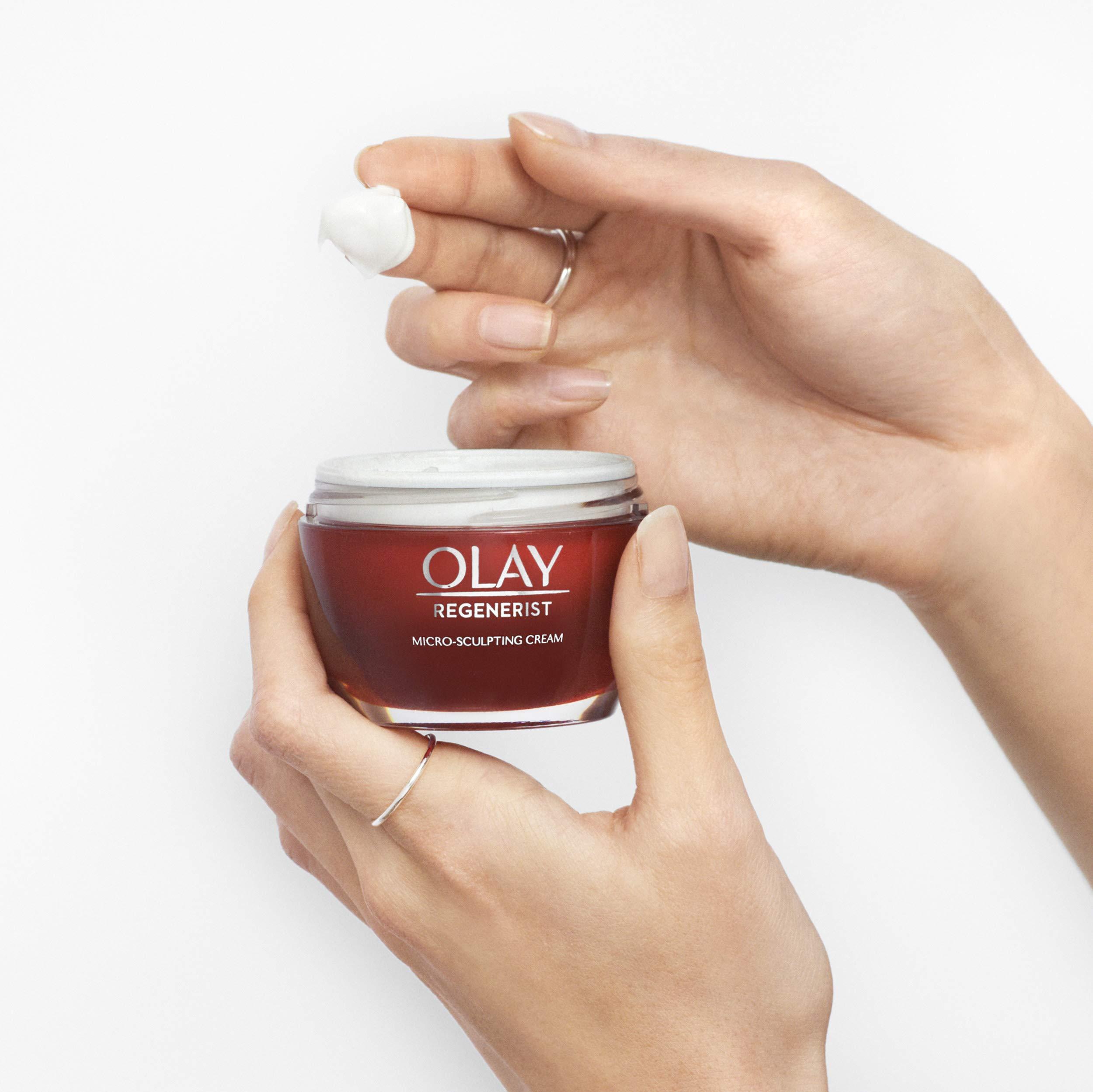 Olay Regenerist Micro-Sculpting Cream, Face Moisturizer with Hyaluronic Acid & Vitamin B3+