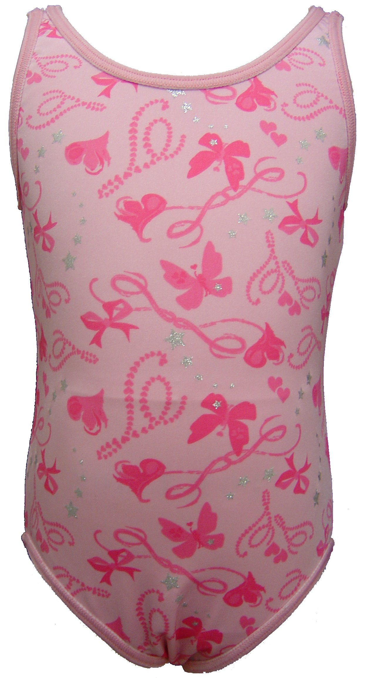 Talent Tale Little Girls Print/Solid Reversible Tank Leotard Size XS 4/5 by Talent Tale