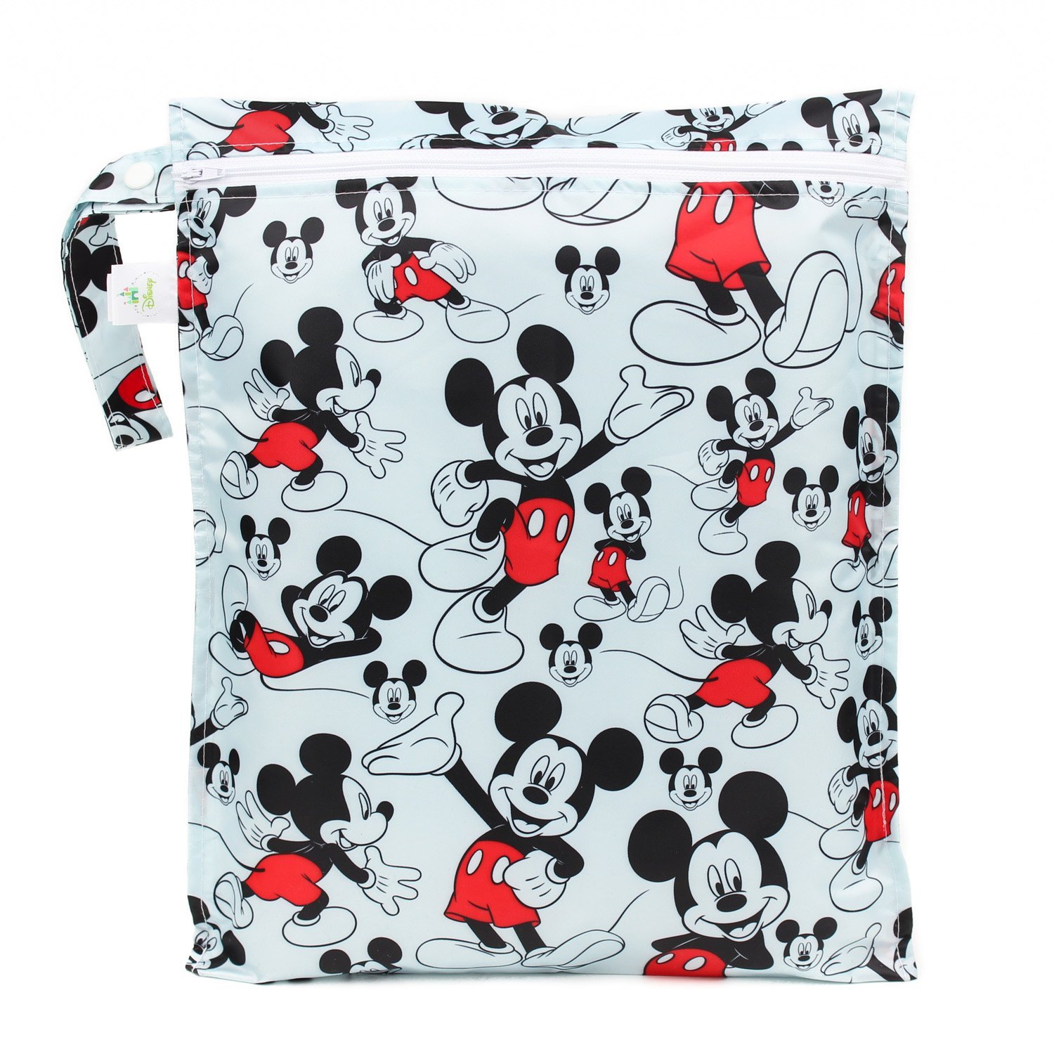 Stroller Bumkins Disney Minnie Mouse Waterproof Wet Bag 12x14 Reusable for Travel Pool Beach Diapers Toiletries Electronics Dirty Gym Clothes Wet Swimsuits Washable Toys