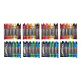 AmazonBasics Washable Crayons - 24 Assorted Colors, 4-Pack