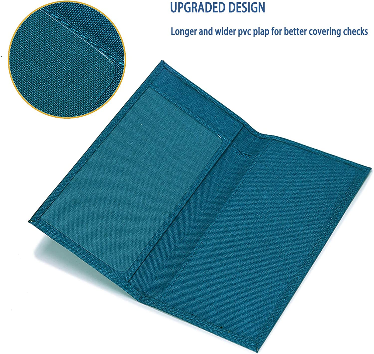 Kookio Oxford Fabric Checkbook Cover with Card Slot Pen Holder for Registers Duplicate Checks RFID Blocking for Men and Women at  Women's Clothing store