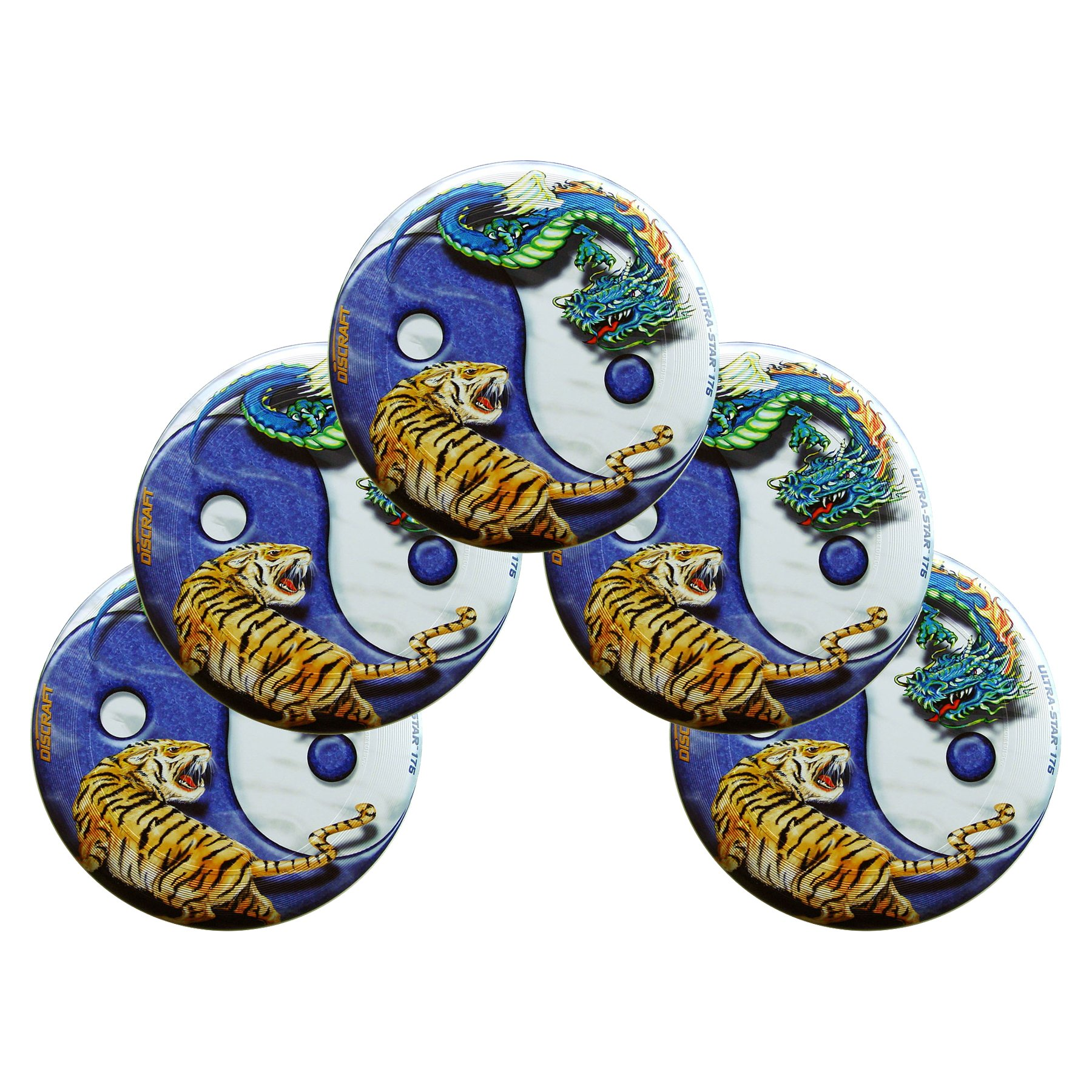 Discraft SuperColor Ultra-Star Yin Yang 175g Ultimate Sportdisc (5 Pack) by Discraft
