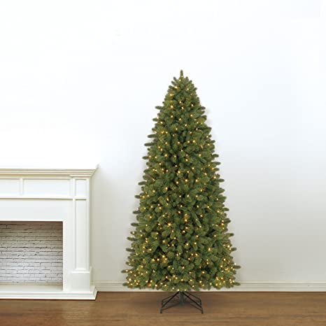Christmas Tree Colors.Evergreen Classics Vermont Spruce 7 5 Ft Color Changing Pre Lit Artificial Christmas Tree W 600 Led Lights Folding Metal Stand