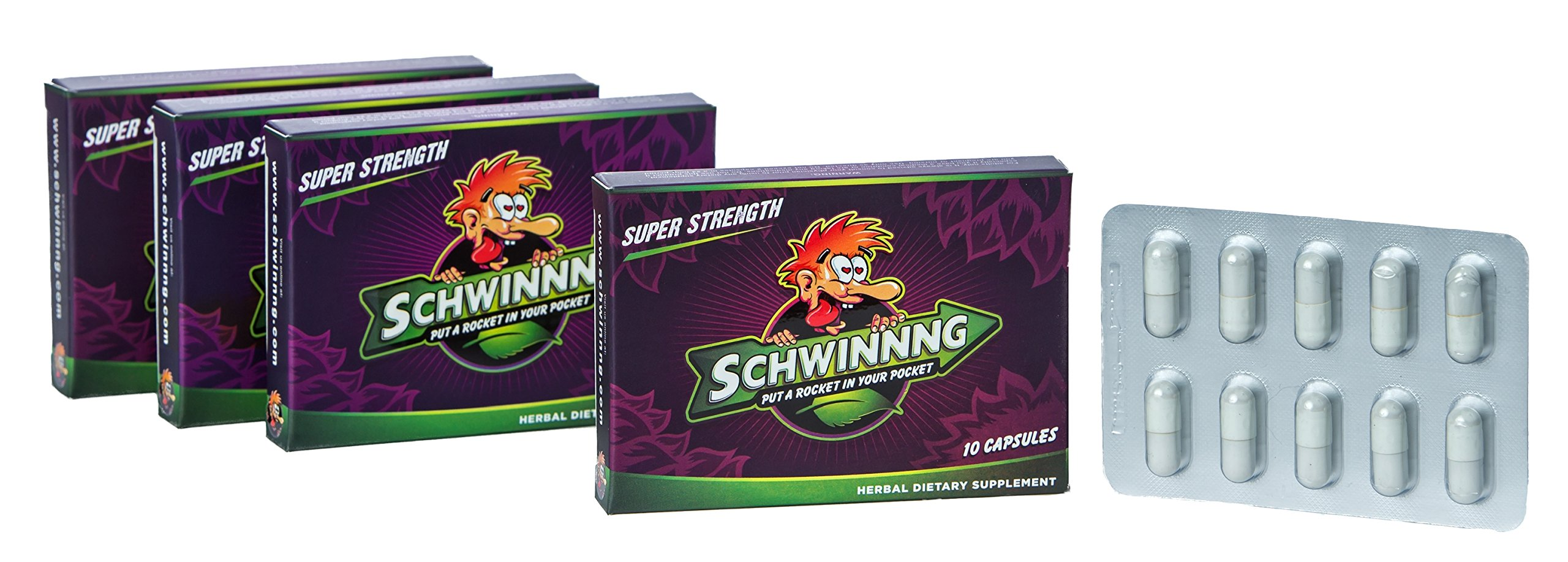 SCHWINNNG * SUPER STRENGTH - NEW ALL-NATURAL MALE ENHANCEMENT PILL! (40 Capsules) Buy 3 packs of (10) capsules Get the 4th for $10 by SCHWINNNG (Image #2)