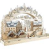 Amazoncom Kurt Adler Led Wooden Advent Calendar Decoration 13