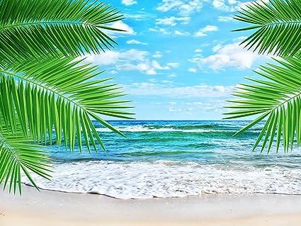 Diseño de casetas de playa de impresión de lienzo, diseño tropical playa paisaje lienzo 16