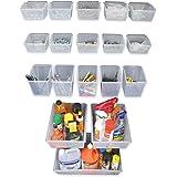Proslat 03250 Probin Storage Bin Kit Designed for PVC Slatwall, 18-Piece