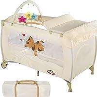 TecTake Kinder Reisebett höhenverstellbar mit Babyeinlage - diverse Farben -