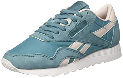 6b4cc56b1cb Reebok Women s s Cl Nylon Slim Hv Sneakers  Amazon.co.uk  Shoes   Bags