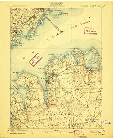 Oyster Bay New York Map.Amazon Com Yellowmaps Oyster Bay Ny Topo Map 1 62500 Scale 15 X