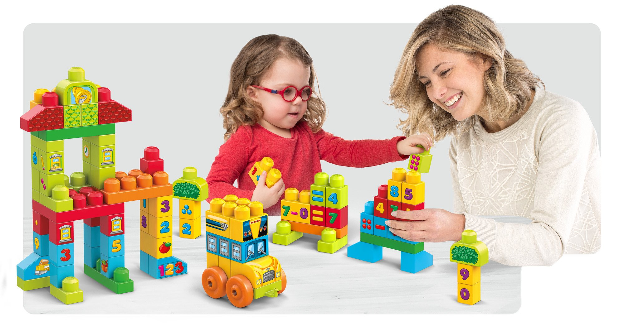 Mega Bloks Build 'N Learn Math Building Set