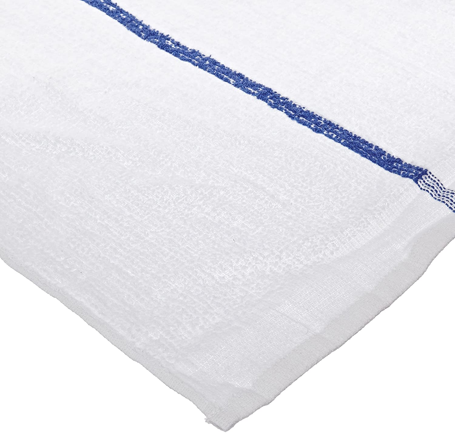 Chef Revival 700BRT Cotton Blue Striped Bar Towel White 19 by 16-Inch Pack of 12